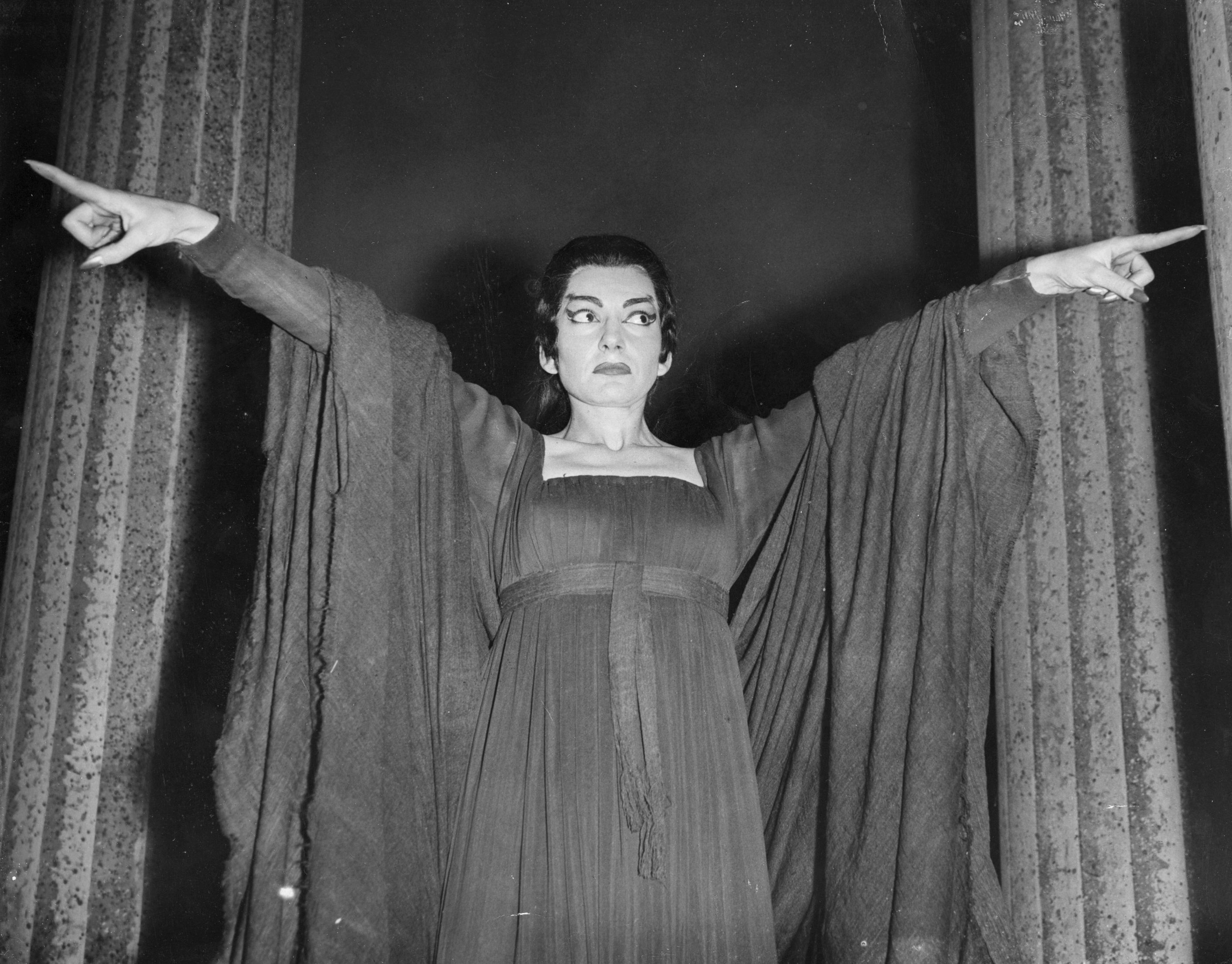 Maria Callas en Medea, de Luigi Cherubini. Covent Garden, Londres, 1959. John Franks/Getty Images